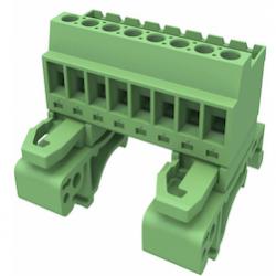 Plug connectors for DIN rail